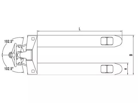 Недорогие гидравлические тележки для склада