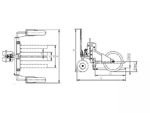 Гидравлическая тележка RTT12